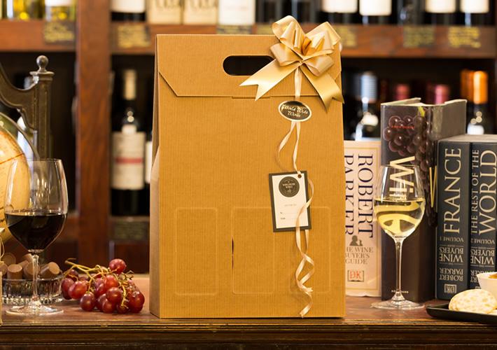 3 Bottle Card Windowed Gift Box