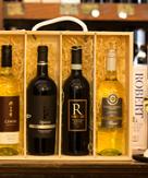 4 Bottle Italian Wooden gift Box