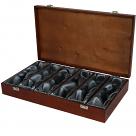 6 Bottle Wooden Luxury Box - Hinged Lid & Silk Lining