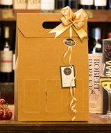 3 Bottle Card Windowed Gift Box