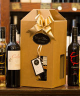 4 Bottle Card Windowed Gift Box