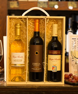 3 Bottle Spanish Wooden Gift Set