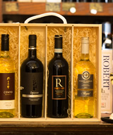 4 Bottle Italian Wooden gift Box