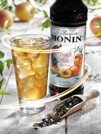 MONIN Peach Tea syrup (1 Litre)