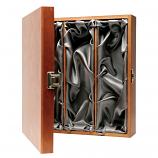 3 Bottle Wooden Luxury Box - Hinged Lid & Silk Lining