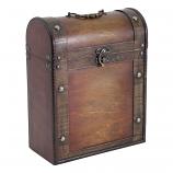 3 Bottle Wooden Box - Antique effect